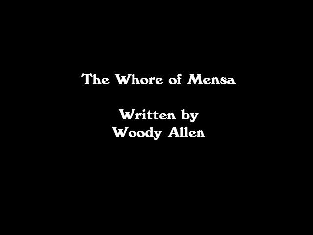 Story Review: The Whore of Mensa by Woody Allen
